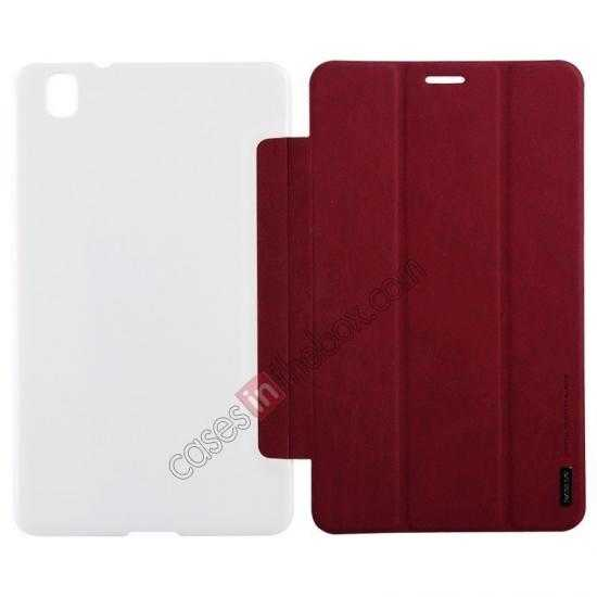 wholesale Baseus Grace Leather Stand Case for Samsung Galaxy Tab Pro 8.4 T320 - Wine Red