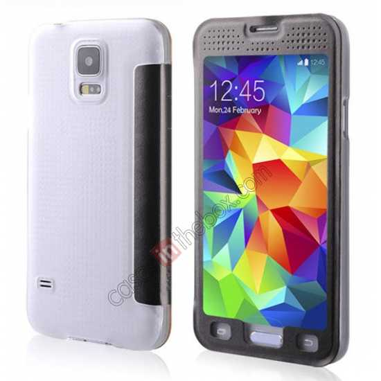 wholesale BASEUS Starry Leather Case for Samsung Galaxy S5 With Full-screen Window - Grey