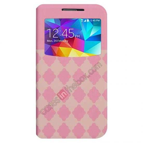wholesale Baseus Tokyo Secret Folio Window Leather Case for Samsung Galaxy S5 G900 - Pink