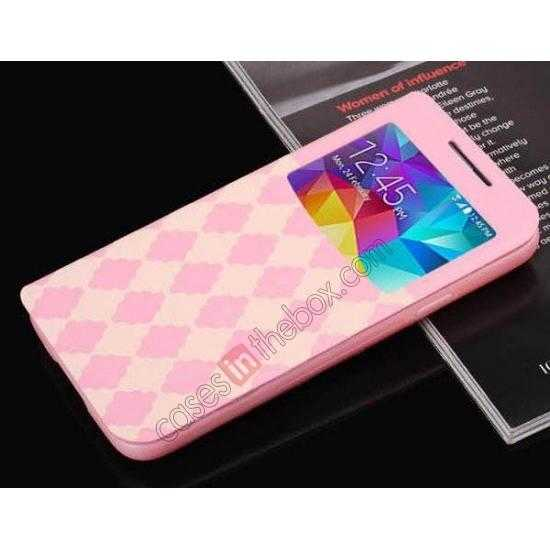 on sale Baseus Tokyo Secret Folio Window Leather Case for Samsung Galaxy S5 G900 - Pink