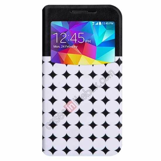 wholesale Baseus Tokyo Secret Folio Window Leather Case for Samsung Galaxy S5 G900 - Black