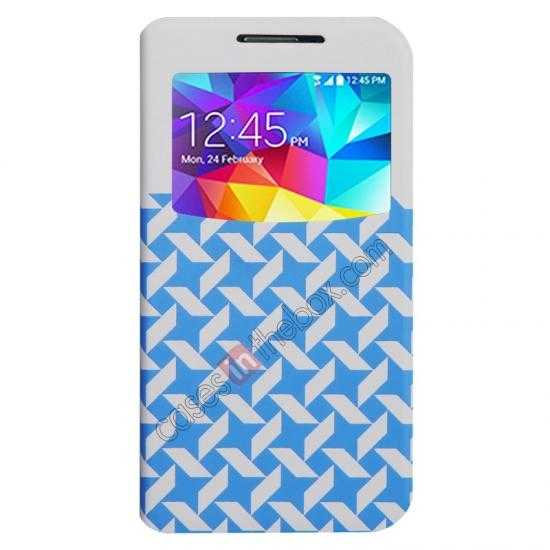wholesale Baseus Tokyo Secret Folio Window Leather Case for Samsung Galaxy S5 G900 - White