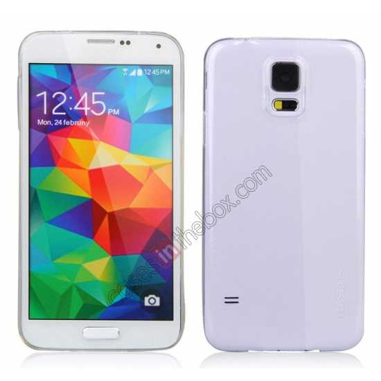 discount Baseus TPU Transparent Sky Case Back Cover For Samsung Galaxy S5