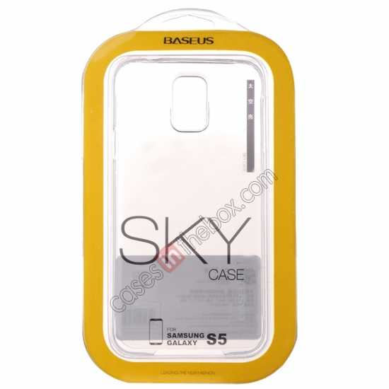 high quanlity Baseus TPU Transparent Sky Case Back Cover For Samsung Galaxy S5