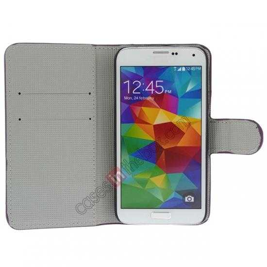 discount Beautiful Fish Pattern Wallet Style Stand Leather Case For Samsung Galaxy S5