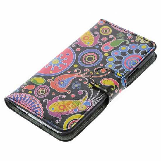 top quality Beautiful Fish Pattern Wallet Style Stand Leather Case For Samsung Galaxy S5