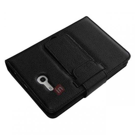 top quality Bluetooth Keyboard Leather Case Cover For Samsung Galaxy Tab3 Lite7/T110 - Black