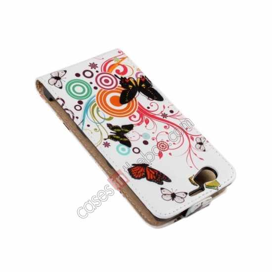 discount Butterfly and Swirl Tree Pattern Top Flip Leather Case Cover for Sony Xperia Z1 Compact(M51W)