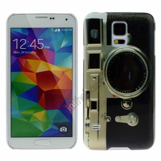 wholesale Camera Lens Pattern Plastic Hard Case Cover for Samsung Galaxy S5