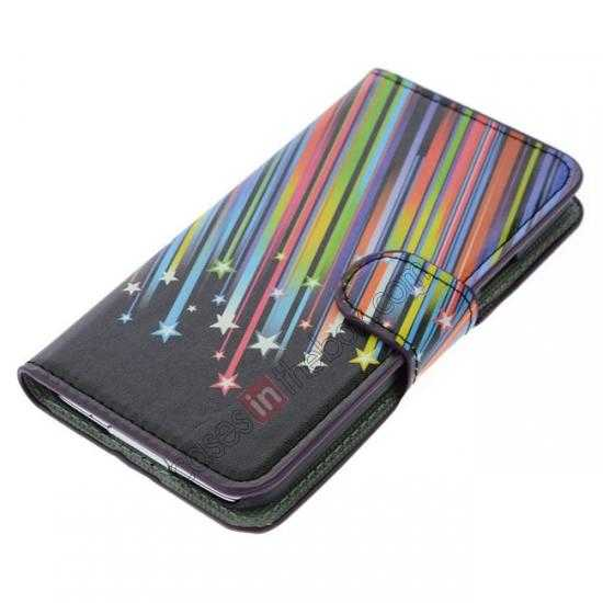 top quality Colorful Meteor Pattern Wallet Style Stand Leather Case For Samsung Galaxy S5