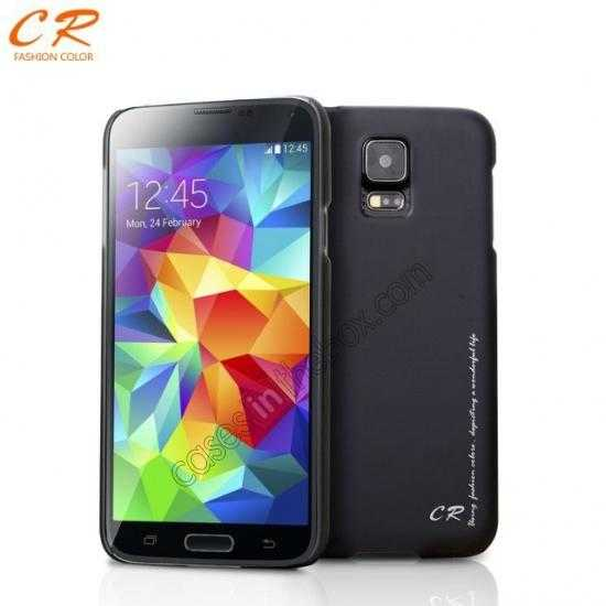 wholesale CR Ultra Slim Hard Back Case Cover For Samsung Galaxy S5 - Black