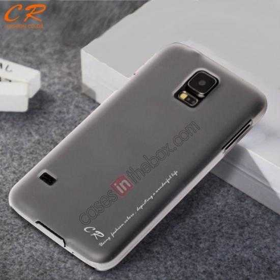 discount CR Ultra Slim Hard Back Case Cover For Samsung Galaxy S5 - Grey
