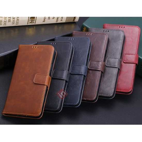 high quanlity Crazy Horse Grain Leather Stand Case for Samsung Galaxy S5 With Card Holder - Dark Brown