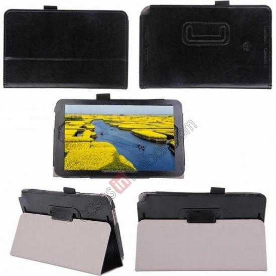 top quality Crazy Horse Pattern Leather Stand Case Cover for ASUS VivoTab Note8 M80TA
