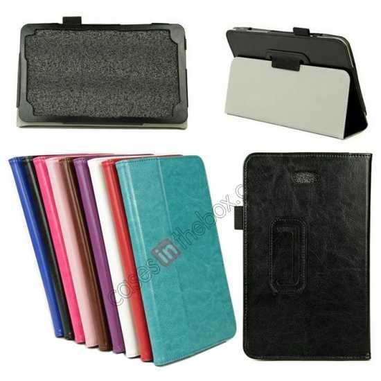 wholesale Crazy Horse Pattern Leather Stand Case Cover for Dell Venue 8 Pro Windows 8.1