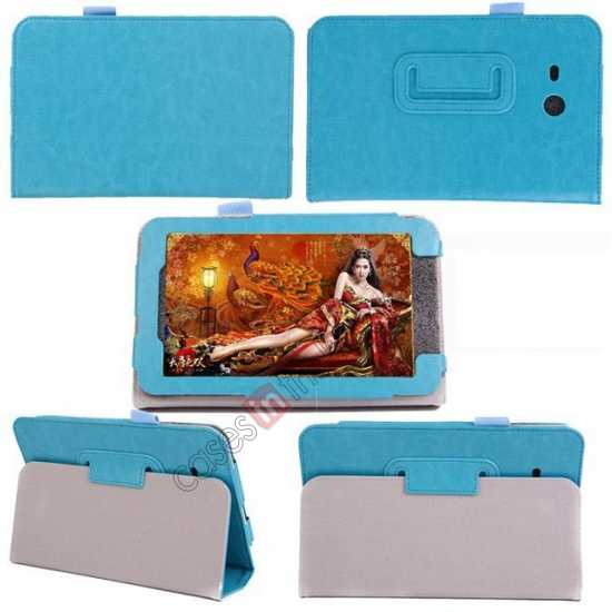 discount Crazy Horse Pattern Leather Stand Case Cover for Samsung Galaxy Tab3 Lite7/T110