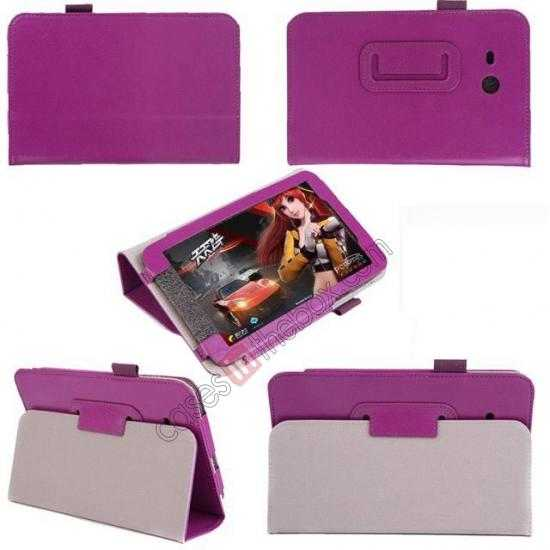cheap Crazy Horse Pattern Leather Stand Case Cover for Samsung Galaxy Tab3 Lite7/T110