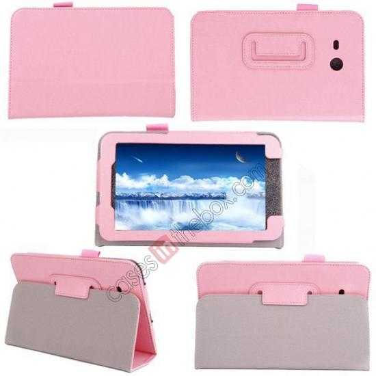 top quality Crazy Horse Pattern Leather Stand Case Cover for Samsung Galaxy Tab3 Lite7/T110