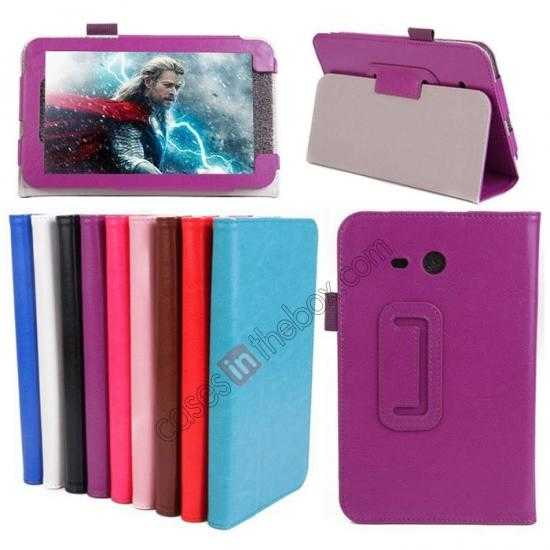 wholesale Crazy Horse Pattern Leather Stand Case Cover for Samsung Galaxy Tab3 Lite7/T110