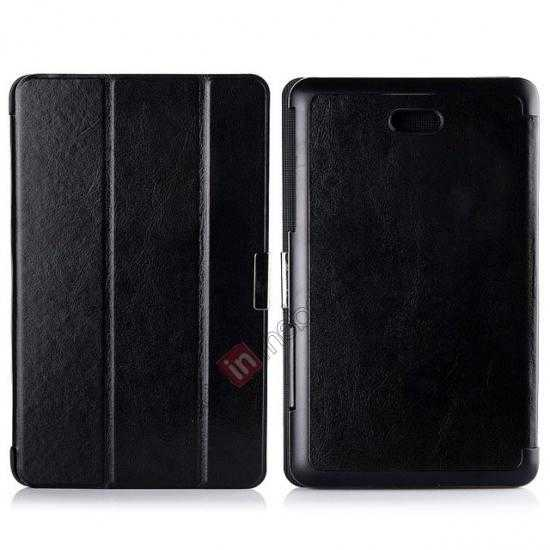 wholesale Crazy Horse Texture Leather Stand Case Cover For Dell Venue 8 Pro Windows 8.1 - Black