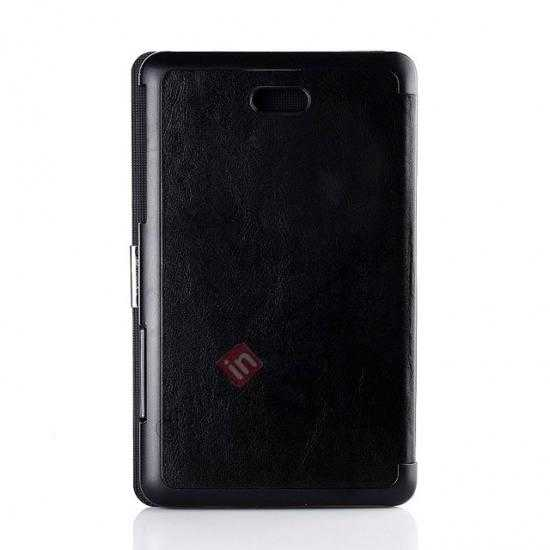 top quality Crazy Horse Texture Leather Stand Case Cover For Dell Venue 8 Pro Windows 8.1 - Black
