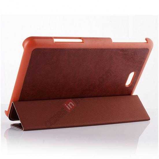 discount Crazy Horse Texture Leather Stand Case Cover For Dell Venue 8 Pro Windows 8.1 - Brown