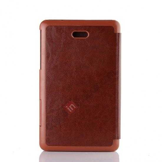 top quality Crazy Horse Texture Leather Stand Case Cover For Dell Venue 8 Pro Windows 8.1 - Brown