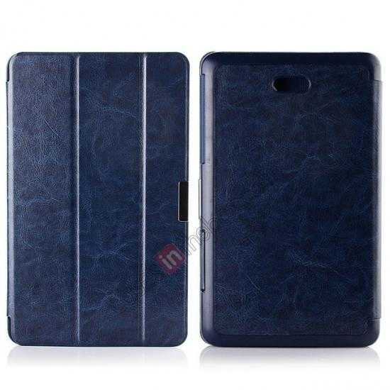 wholesale Crazy Horse Texture Leather Stand Case Cover For Dell Venue 8 Pro Windows 8.1 - Dark blue