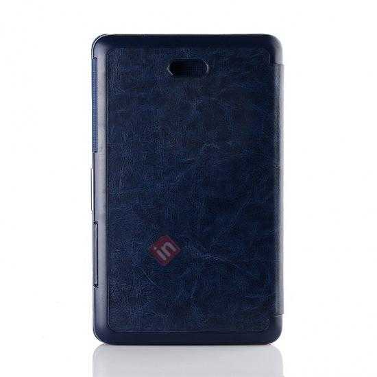 top quality Crazy Horse Texture Leather Stand Case Cover For Dell Venue 8 Pro Windows 8.1 - Dark blue