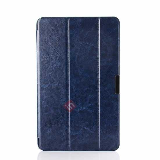 cheap Crazy Horse Texture Leather Stand Case Cover For Dell Venue 8 Pro Windows 8.1 - Dark blue