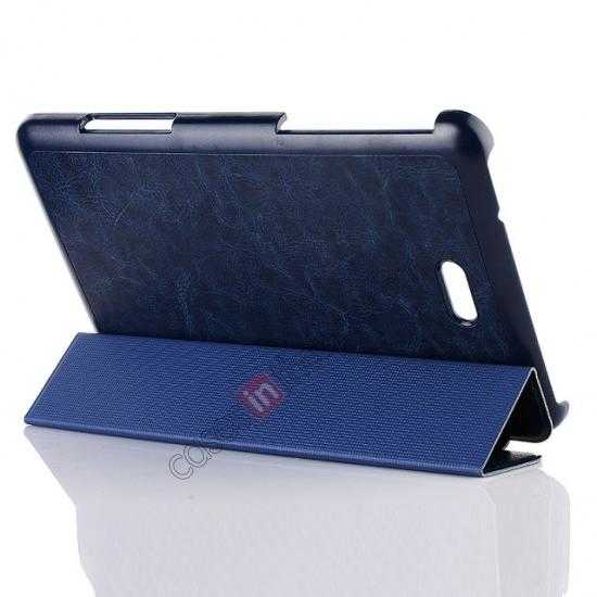 discount Crazy Horse Texture Leather Stand Case Cover For Dell Venue 8 Pro Windows 8.1 - Dark blue