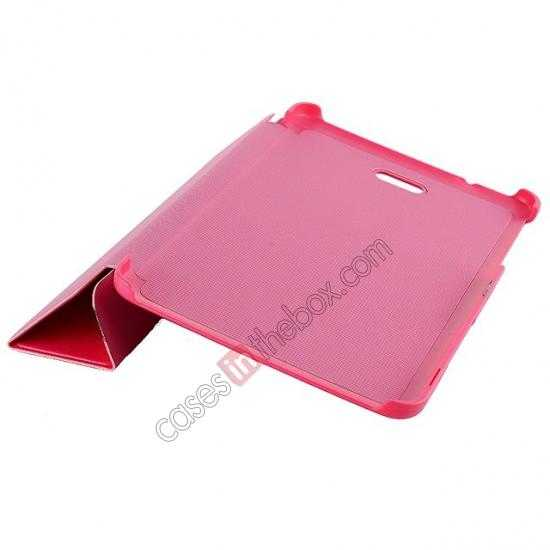 discount Crazy Horse Texture Leather Stand Case Cover For Dell Venue 8 Pro Windows 8.1 - Hot pink