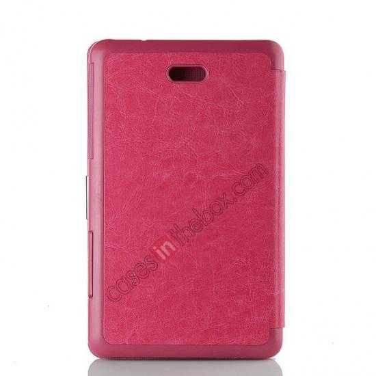 top quality Crazy Horse Texture Leather Stand Case Cover For Dell Venue 8 Pro Windows 8.1 - Hot pink
