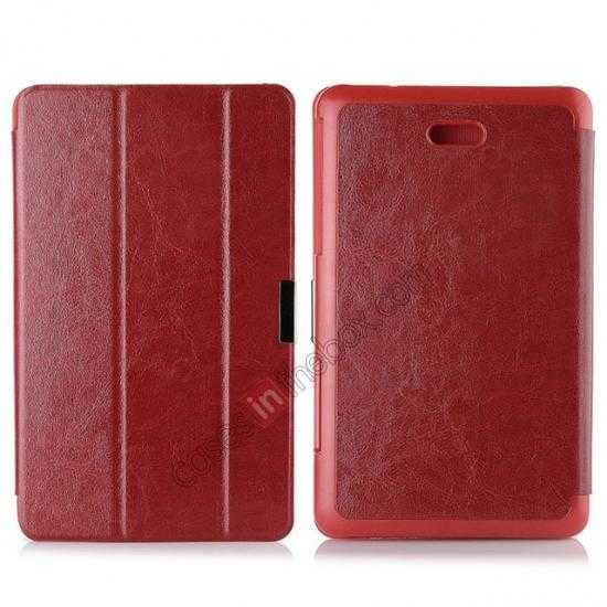 wholesale Crazy Horse Texture Leather Stand Case Cover For Dell Venue 8 Pro Windows 8.1 - Red