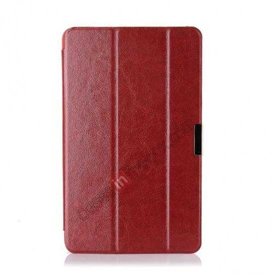 cheap Crazy Horse Texture Leather Stand Case Cover For Dell Venue 8 Pro Windows 8.1 - Red