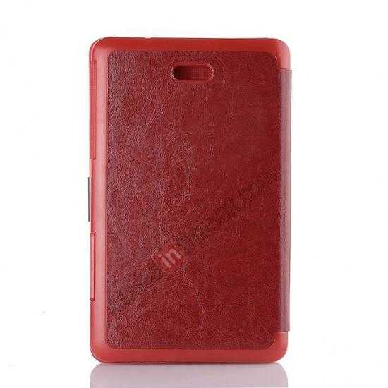top quality Crazy Horse Texture Leather Stand Case Cover For Dell Venue 8 Pro Windows 8.1 - Red