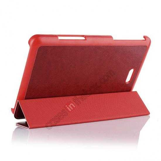 discount Crazy Horse Texture Leather Stand Case Cover For Dell Venue 8 Pro Windows 8.1 - Red