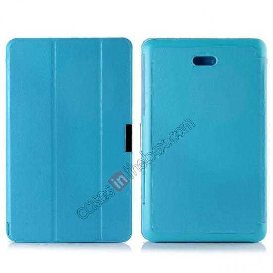 wholesale Crazy Horse Texture Leather Stand Case Cover For Dell Venue 8 Pro Windows 8.1 - Sky blue