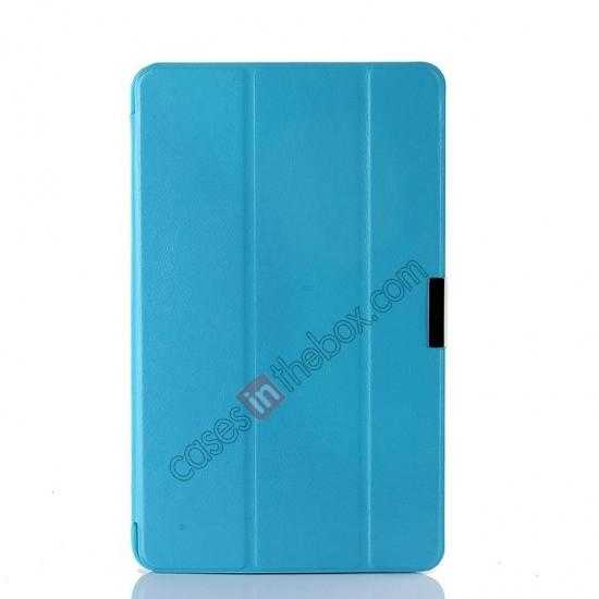 cheap Crazy Horse Texture Leather Stand Case Cover For Dell Venue 8 Pro Windows 8.1 - Sky blue
