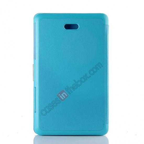 top quality Crazy Horse Texture Leather Stand Case Cover For Dell Venue 8 Pro Windows 8.1 - Sky blue