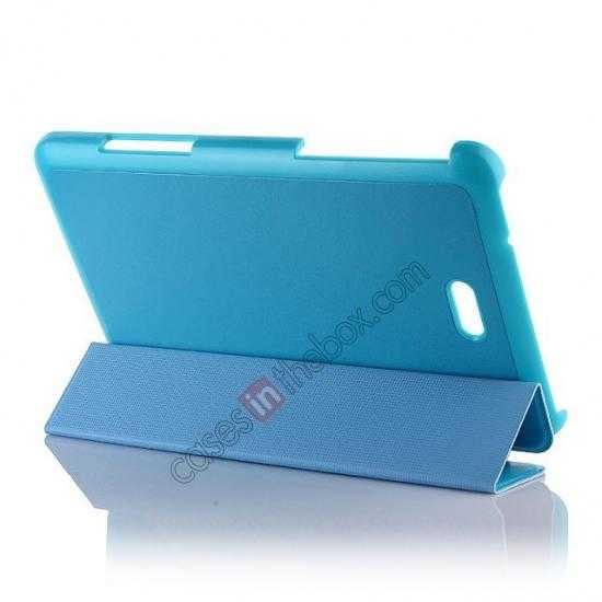 discount Crazy Horse Texture Leather Stand Case Cover For Dell Venue 8 Pro Windows 8.1 - Sky blue