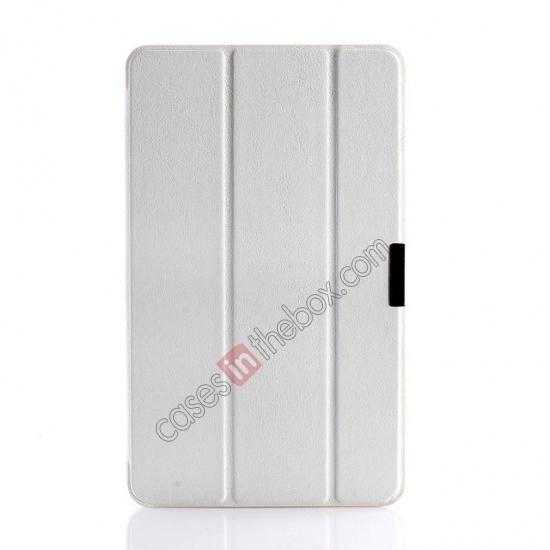 cheap Crazy Horse Texture Leather Stand Case Cover For Dell Venue 8 Pro Windows 8.1 - White