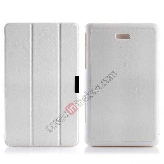 wholesale Crazy Horse Texture Leather Stand Case Cover For Dell Venue 8 Pro Windows 8.1 - White