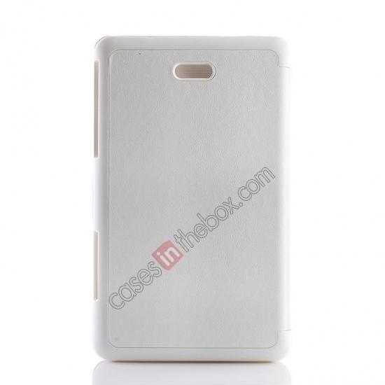 top quality Crazy Horse Texture Leather Stand Case Cover For Dell Venue 8 Pro Windows 8.1 - White