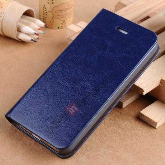 wholesale Crazy Horse Texture Wallet Leather Stand Case For iPhone SE/5S/5 - Dark blue