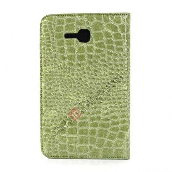 cheap Crocodile Pattern Flip Stand Ultraslim PC+Leather Case For Samsung Galaxy Tab 3 Lite 7 T110 - Green