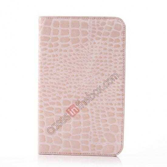 discount Crocodile Pattern Flip Stand Ultraslim PC+Leather Case For Samsung Galaxy Tab 3 Lite 7 T110 - Pink