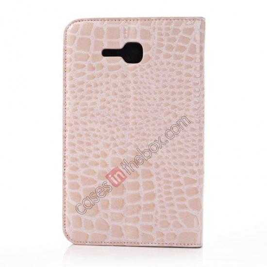 cheap Crocodile Pattern Flip Stand Ultraslim PC+Leather Case For Samsung Galaxy Tab 3 Lite 7 T110 - Pink