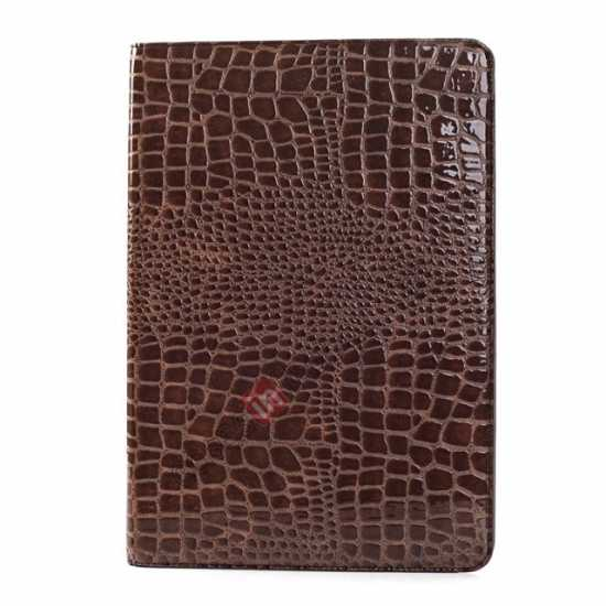 cheap Crocodile Skin Pattern Leather Stand Case for Samsung Galaxy Tab Pro 12.2 P900 - Brown