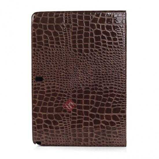 top quality Crocodile Skin Pattern Leather Stand Case for Samsung Galaxy Tab Pro 12.2 P900 - Brown